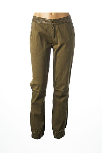 Pantalon casual vert GEISHA pour femme