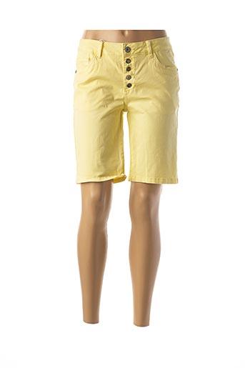 Bermuda jaune GEISHA pour femme