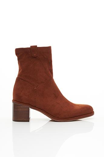 Bottines/Boots orange ADIGE pour femme