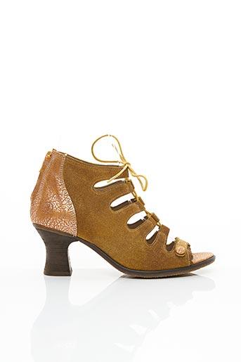 Sandales/Nu pieds jaune CASTA pour femme