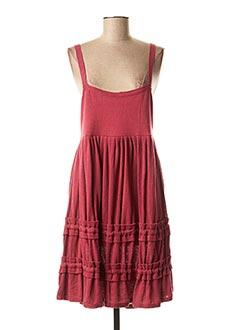 Robe mi-longue rouge SOPHIE CEPIERE pour femme