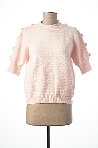 Pull col cheminée rose EXQUISS'S pour femme