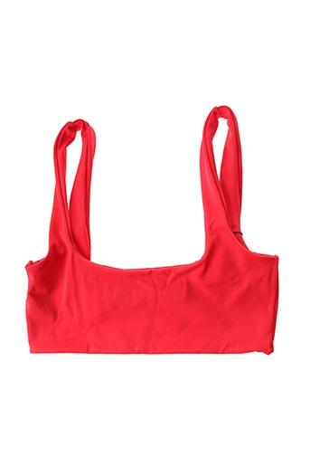 Haut de maillot de bain rouge KHONGBOON pour femme