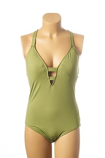 Maillot de bain 1 pièce vert SEAFOLLY pour femme