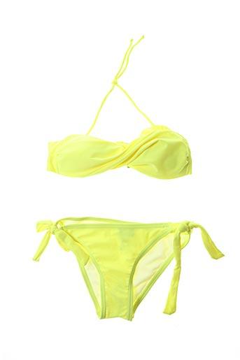 Maillot de bain 2 pièces jaune DAG ADOM pour fille
