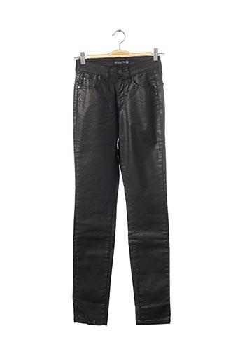 Pantalon casual noir DESGASTE pour femme
