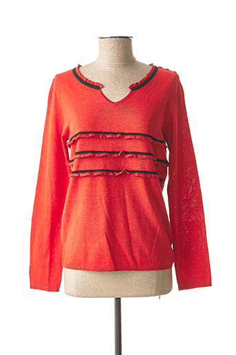 Pull col V rouge SO SWEET pour femme