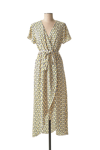 Robe longue jaune BY ONE pour femme