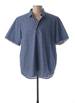 Chemise manches courtes bleu LA SQUADRA pour homme