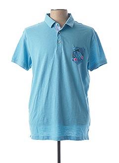 Polo manches courtes bleu LA SQUADRA pour homme
