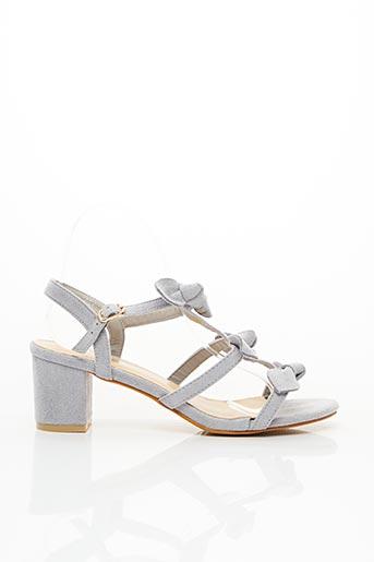 Sandales/Nu pieds gris FOREVER FOLIE pour femme