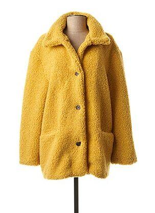 Manteau court jaune RINO & PELLE pour femme