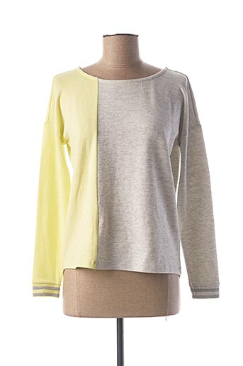 Pull col rond jaune STREET ONE pour femme