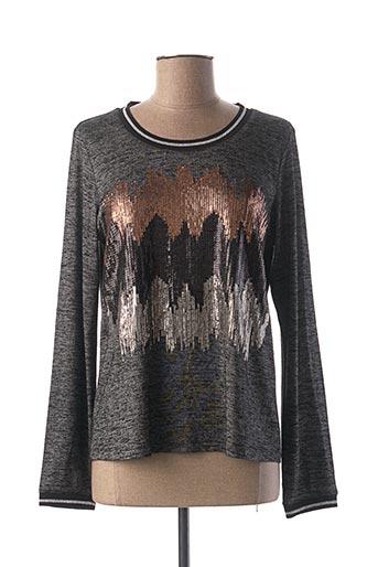 T-shirt manches longues gris ET COMPAGNIE pour femme