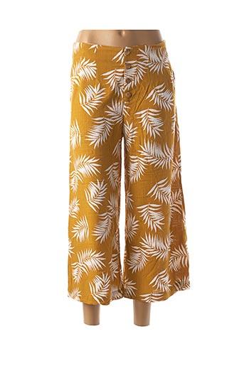 Pantalon 7/8 jaune I.CODE (By IKKS) pour femme