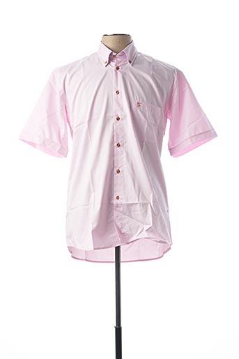 Chemise manches courtes rose BANDE ORIGINALE pour homme
