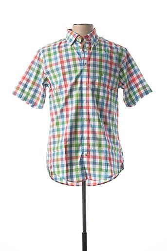 Chemise manches courtes rouge FYNCH-HATTON pour homme