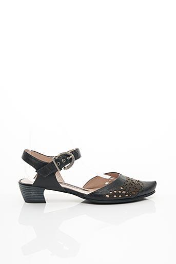 Sandales/Nu pieds noir FUGITIVE BY FRANCESCO ROSSI pour femme