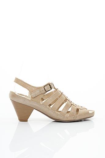 Sandales/Nu pieds beige ARIMA pour femme