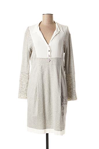 Robe mi-longue gris ELISA CAVALETTI pour femme