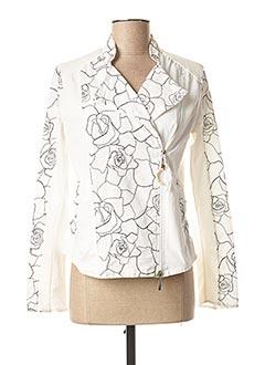 Veste casual blanc DANIELA DALLAVALLE pour femme