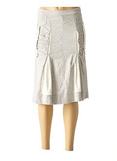 Jupe mi-longue gris ELISA CAVALETTI pour femme