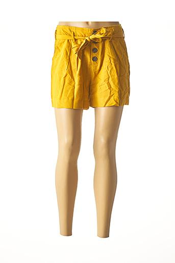 Short jaune ONLY pour femme