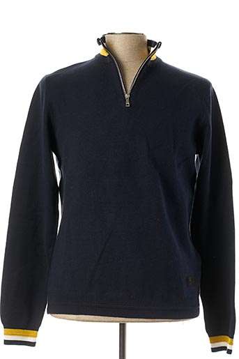 Pull col cheminée bleu ONLY&SONS pour homme