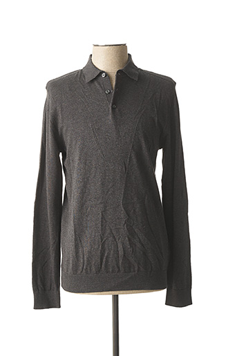 Pull col chemisier gris SELECTED pour homme