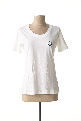 T-shirt manches courtes blanc EUDOXIE pour femme