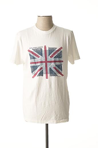 T-shirt manches courtes blanc PEPE JEANS pour homme