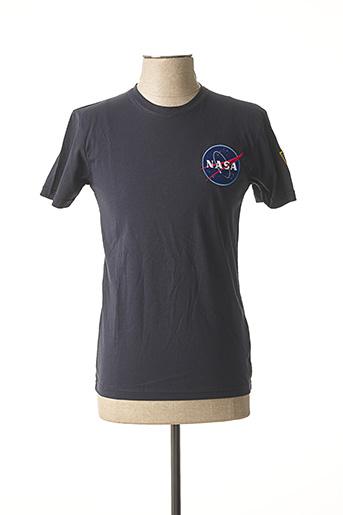 T-shirt manches courtes bleu ALPHA INDUSTRIES pour homme