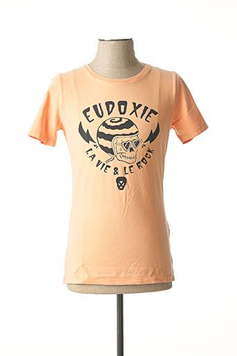 T-shirt manches courtes orange EUDOXIE pour homme