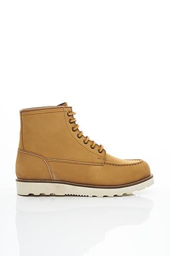 Bottines/Boots beige CHEVIGNON pour homme