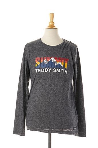 T-shirt manches longues bleu TEDDY SMITH pour garçon