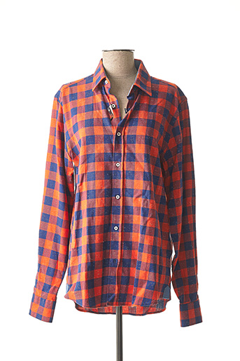 Chemise manches longues orange RECYCLED ART WORLD pour homme