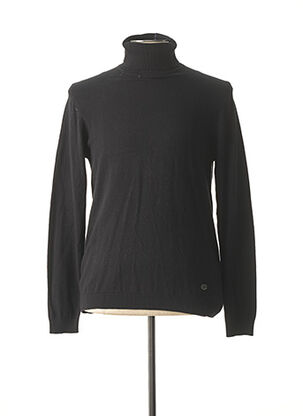 Pull col roulé noir RECYCLED ART WORLD pour homme