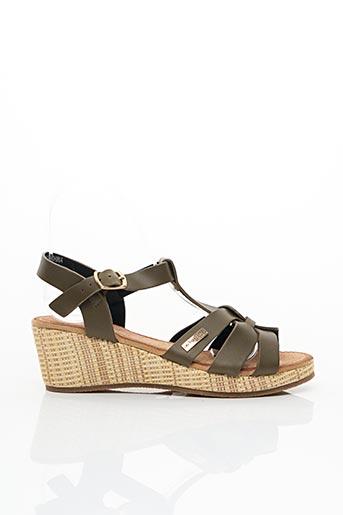 Sandales/Nu pieds vert LES TROPEZIENNES PAR M.BELARBI pour femme