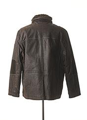 Veste en cuir marron TRAPPER pour homme seconde vue