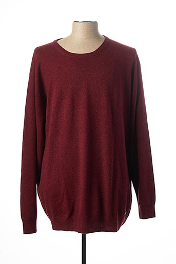 Pull col rond rouge CASAMODA pour homme