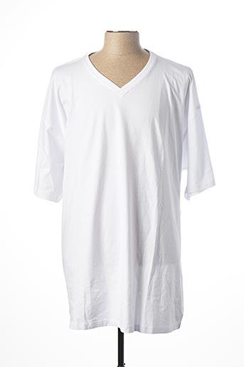 T-shirt manches courtes blanc KITARO pour homme