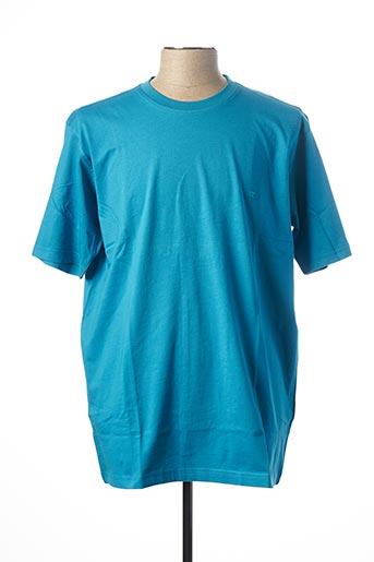 T-shirt manches courtes bleu CASAMODA pour homme