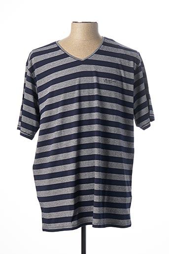 T-shirt manches courtes bleu MONTE CARLO pour homme