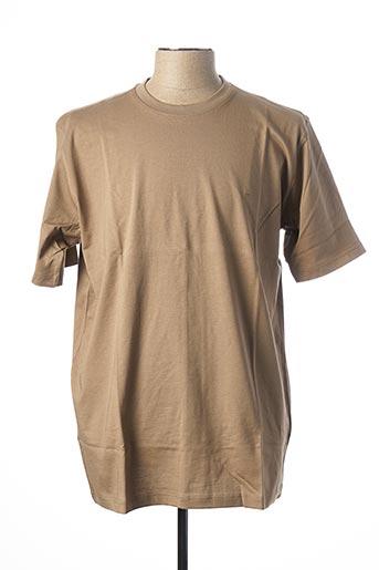 T-shirt manches courtes marron CASAMODA pour homme
