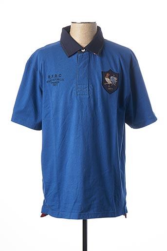 Polo manches courtes bleu RUCKFIELD pour homme