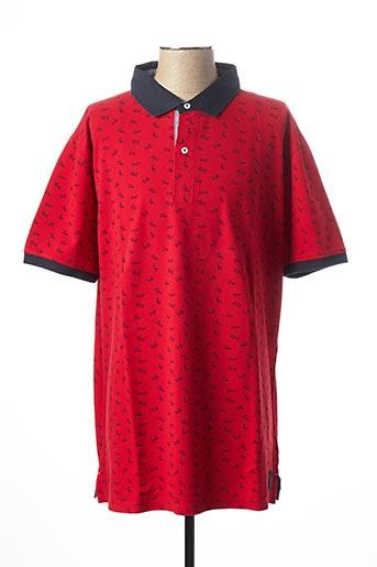 Polo manches courtes rouge KITARO pour homme