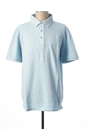 Polo sans manche bleu CASAMODA pour homme