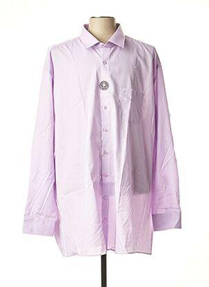 Chemise manches longues violet CASAMODA pour homme