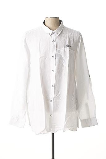 Chemise manches longues blanc MONTE CARLO pour homme
