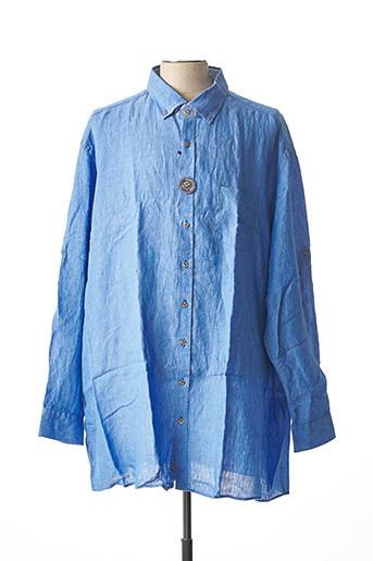 Chemise manches longues bleu CASAMODA pour homme